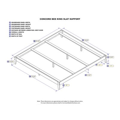 Sharrott Panel Bed Size: King