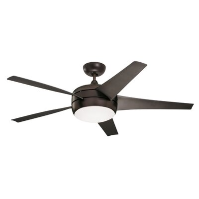 54 Ivy Hill 5 Blade LED Ceiling Fan Finish: Oil Rubbed Bronze