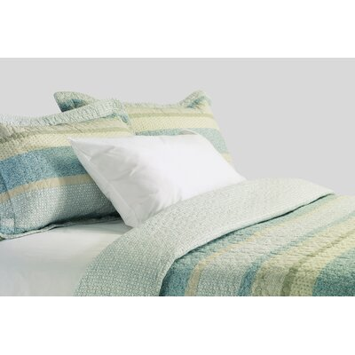 Oceane Cotton 3 Piece Reversible Quilt Set