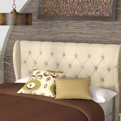 Yasser Upholstered Wingback Headboard Size: Queen/ Full
