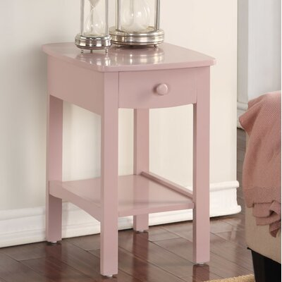 Howser Nightstand Color: Pink