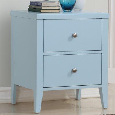 Howlett 2 Drawer Nightstand Color: Blue