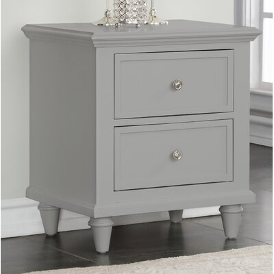 Ellingsworth 2 Drawer Nightstand Color: Gray