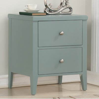 Howlett 2 Drawer Nightstand Color: Green