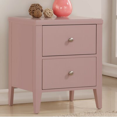 Howlett 2 Drawer Nightstand Color: Pink