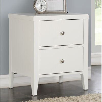 Howlett 2 Drawer Nightstand Color: White
