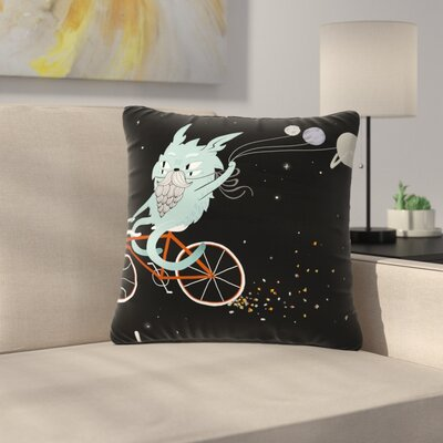 Anya Volk Bunny in Space Fantasy Outdoor Throw Pillow Size: 18 H x 18 W x 5 D