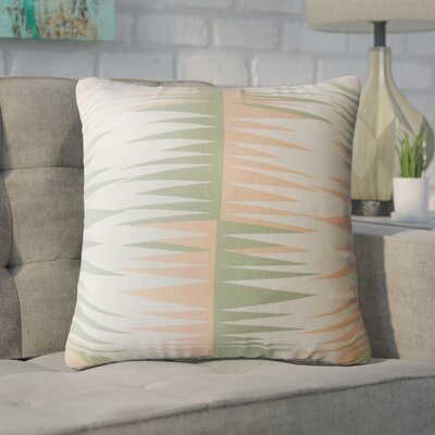 Wetzel Geometric Down Filled 100% Cotton Throw Pillow Size: 18 x 18, Color: Sundown
