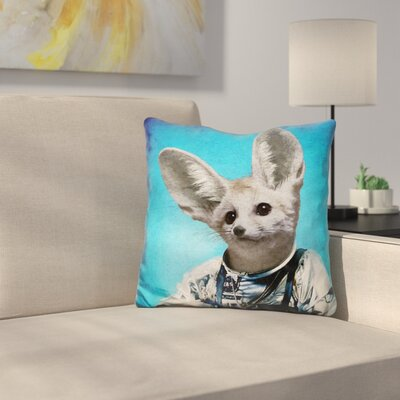 Captain Fennec Throw Pillow