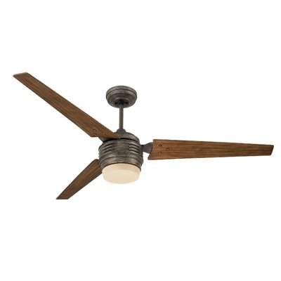 60 Hammack 3 Blade LED Ceiling Fan Finish: Vintage Steel with Riverwash Blades