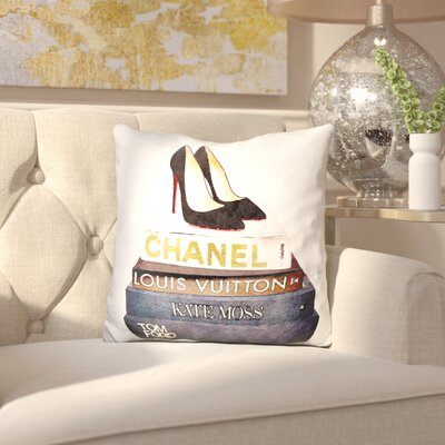 Jankowski Stilettos and Fashion Books Throw Pillow
