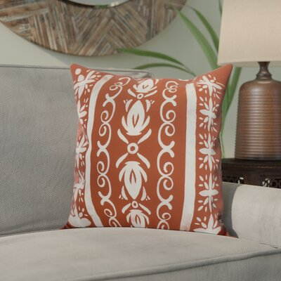 Crisler Geometric Print Indoor/Outdoor Throw Pillow Color: Red Orange, Size: 18 x 18