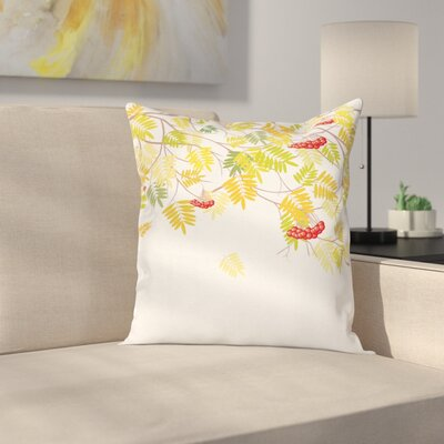 Vivid Fall Tree Square Pillow Cover Size: 20 x 20