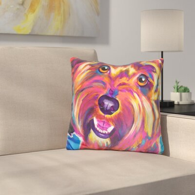 Cavapoo Daisy Throw Pillow