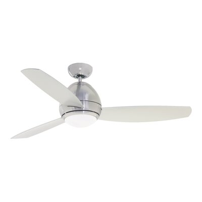 52 Imler 3 Blade Outdoor LED Ceiling Fan Finish: Brushed Steel, Size: 14.9 H x 44 W x 44 D