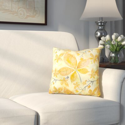 Mifflinville Fall Leaves and Branches Outdoor Throw Pillow