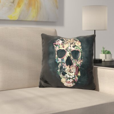 Vintage Skull Sq Throw Pillow