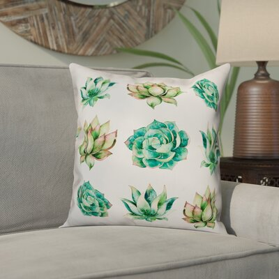 Orris Succulent Collection Throw Pillow