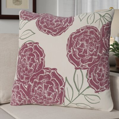 Broad Brook Mums the Word Floral Print Outdoor Pillow Color: Passion Flower, Size: 20 H x 20 W x 1 D