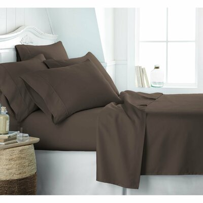 Crumbley 300 Thread Count 100% Cotton Sheet Set Size: Queen, Color: Taupe