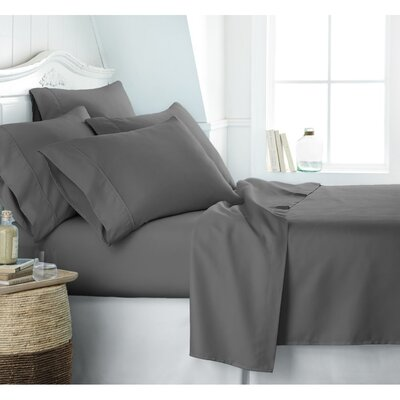 Crumbley 300 Thread Count 100% Cotton Sheet Set Size: King, Color: Gray