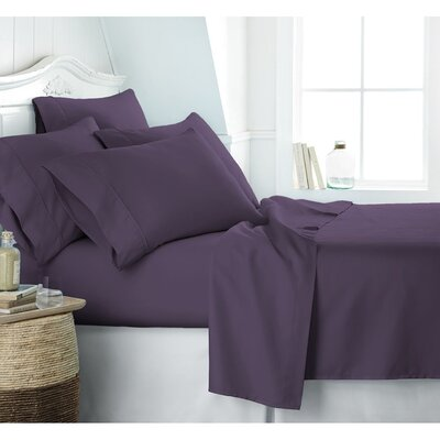 Crumbley 300 Thread Count 100% Cotton Sheet Set Size: Queen, Color: Lavender