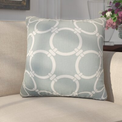 Donatella Geometric Cotton Throw Pillow Color: Gray