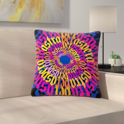 Roberlan Ad Astra Per Aspera Mandala Outdoor Throw Pillow Size: 16 H x 16 W x 5 D