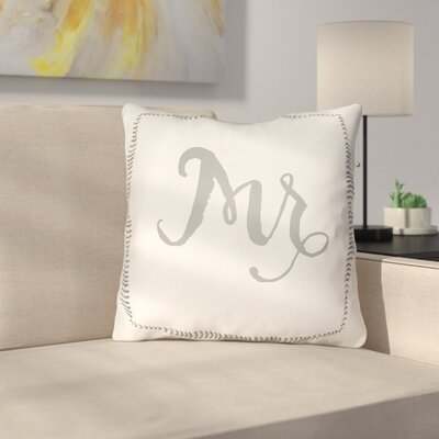 Jaxson Indoor/Outdoor Throw Pillow Size: 18 H x 18 W x 4 D, Color: Gray