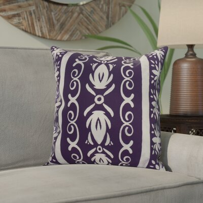 Crisler Geometric Print Indoor/Outdoor Throw Pillow Color: Purple, Size: 18 x 18