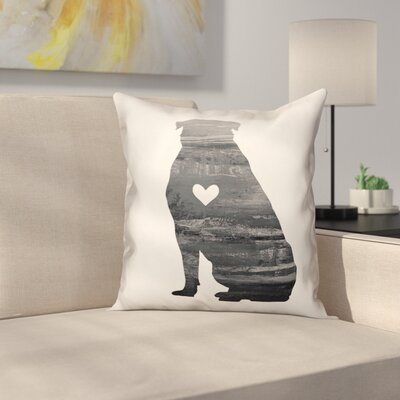 Nunlist Silhouette Rottweiler Throw Pillow in , Throw Pillow Color: Black/White, Size: 18 x 18