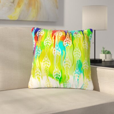 Dan Sekanwagi Seeds of Unity - Variety Paint Outdoor Throw Pillow Size: 18 H x 18 W x 5 D, Color: Green