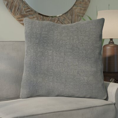 Tarsha Throw Pillow Color: Dark Gray