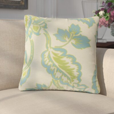 Edoardo Floral Throw Pillow Color: Blue