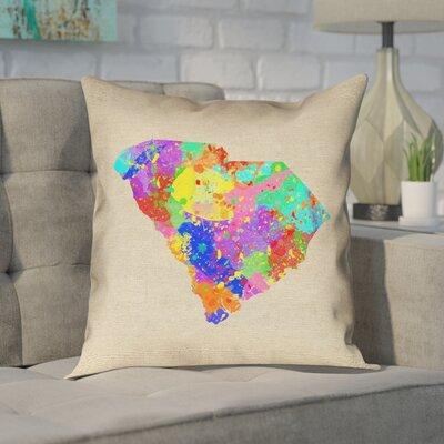 Chaput South Carolina Watercolor Pillow