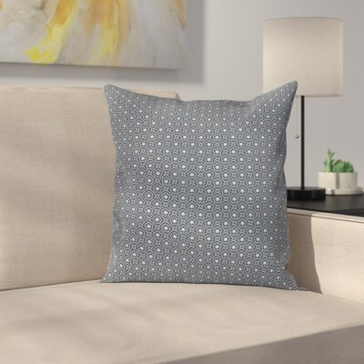 Floral Checked Tile Cushion Pillow Cover Size: 18 x 18