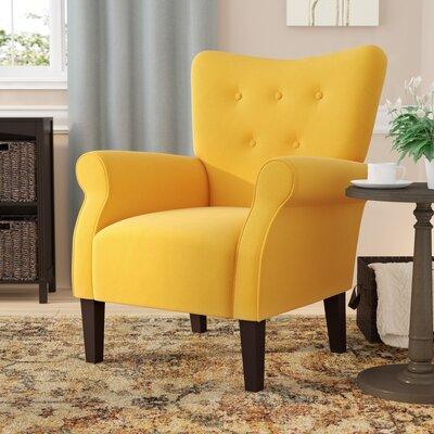 Naumann Leg Armchair Upholstery: Citrine Yellow