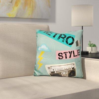 Retro Style Throw Pillow