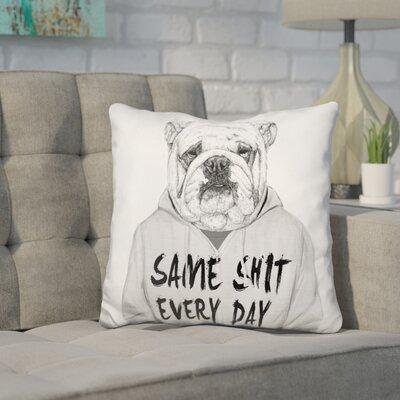 Pavlik Same Shit Every Day Throw Pillow