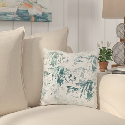 Buckland Sealife Batik Throw Pillow