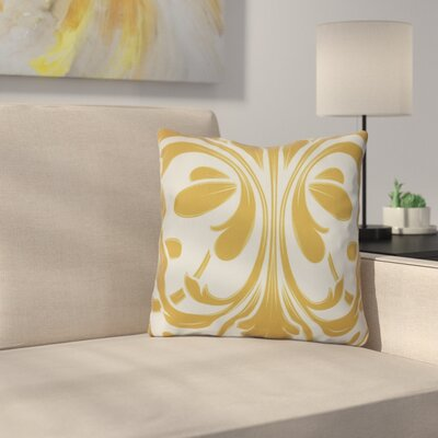 Harmen Outdoor Throw Pillow Size: 18 H x 18 W x 3 D, Color: Gold