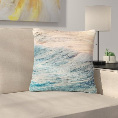 Sherbert Ocean Nature Outdoor Throw Pillow Size: 16 H x 16 W x 5 D