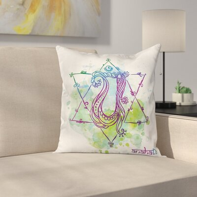 Zen Healing Soul Mystic Energy Square Pillow Cover Size: 20 x 20