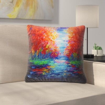 Olena Art Lake View Throw Pillow Size: 18 x 18
