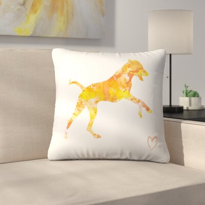 Rhodesian Ridgeback Throw Pillow Size: 16 x 16