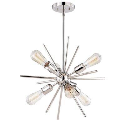 Berryhill 6-Light Sputnik Chandelier Finish: Polished Nickel