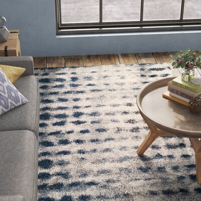 Zhora Shag Denim Area Rug Rug Size: Rectangle 53 x 77