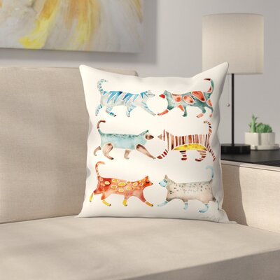 Cat Throw Pillow Size: 16 x 16