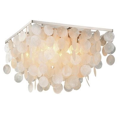 Navua Capiz Shell Square 4-Light Flush Mount