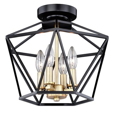 Loggins 4-Light Semi Flush Mount